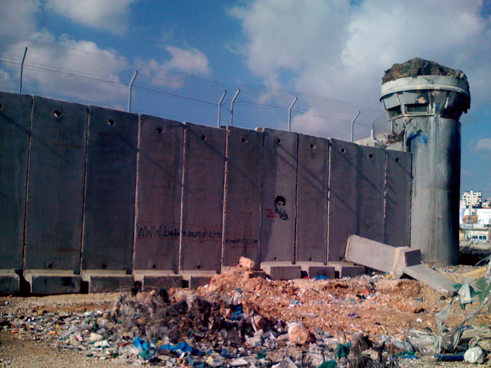 security wall ramallah